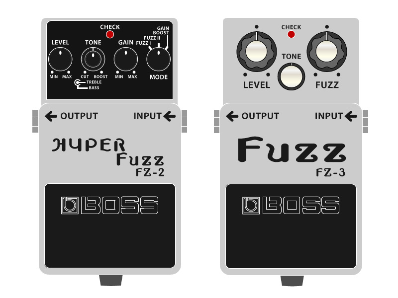 BOSSのファズ-FZ-2-HYPER-FuzzとFZ-3-Fuzz