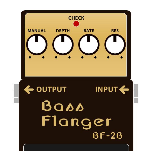 BOSS_BF-2B_Bass_Flanger_ベースフランジャーイラスト