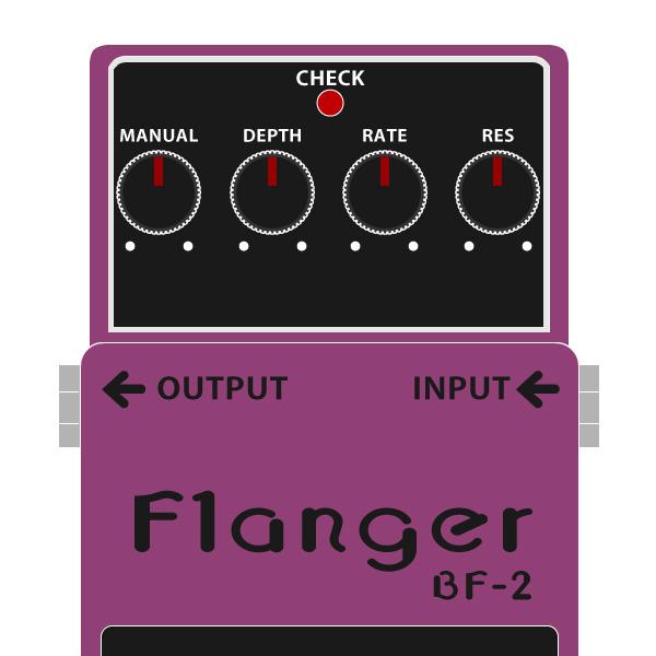 BOSS_BF-2_Flanger_フランジャー旧ノブイラスト