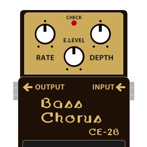 BOSS_CE-2B_Bass_Chorus_ベースコーラスイラスト