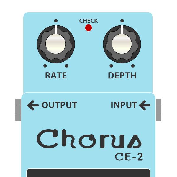 BOSS_CE-2_Chorus-コーラスイラスト