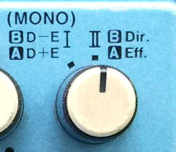 BOSS_CE-3_Stereo-Modeスイッチ周り