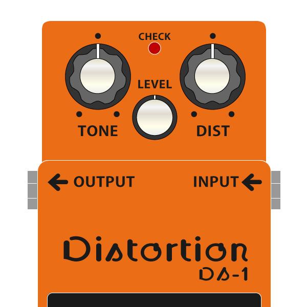 BOSS_DS-1_Distortion_ディストーションイラスト