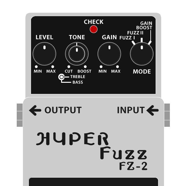BOSS_FZ-2_HYPER_Fuzz_ハイパーファズイラスト