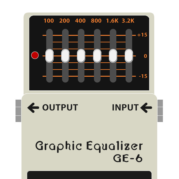 BOSS_GE-6_Graphic_Equalizer_グラフィックイコライザーイラスト