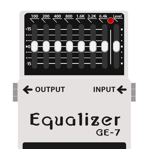 BOSS_GE-7_Equalizer_グラフィックイコライザーイラスト