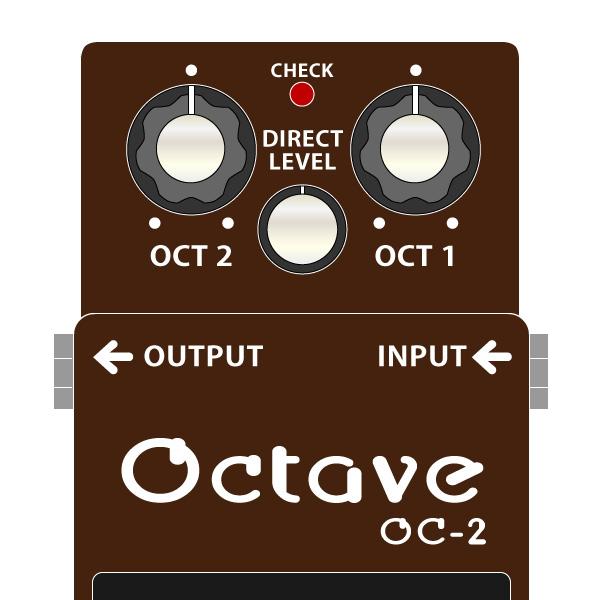 BOSS_OC-2_Octave-オクターブイラスト