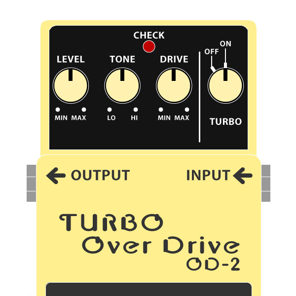 BOSS_OD-2-TURBO_OverDrive_ターボオーバードライブイラスト