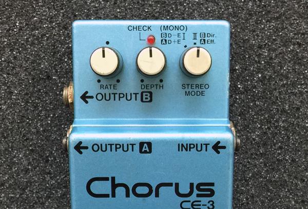 CE-3 Chorusのコントロールレイアウト