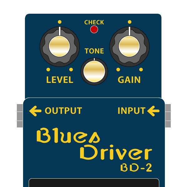 BOSS_BD-2_BluesDiriver_ブルースドライバーイラスト