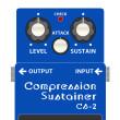 BOSS_CS-2_Compression_Sustainer_コンプレッションサステイナーイラスト