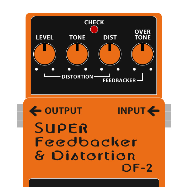 BOSS_DF-2_SUPER_Feedbacker_Distortion_スーパーフィードバッカー_ディストーションイラスト