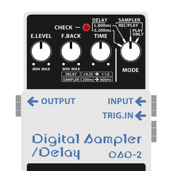 BOSS_DSD-2_Digital_Sampler_Delay_デジタルサンプラー・ディレイイラスト