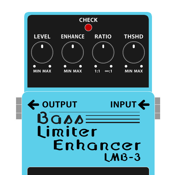 BOSS_LMB-3_Bass_Limiter_Enhancer_ベースリミッターエンハンサーイラスト