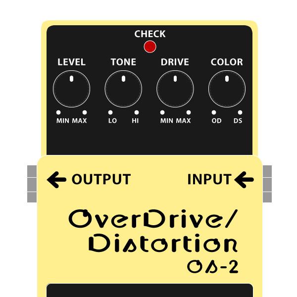 BOSS_OS-2_Overdrive_Distortion_オーバードライブディストーションイラスト