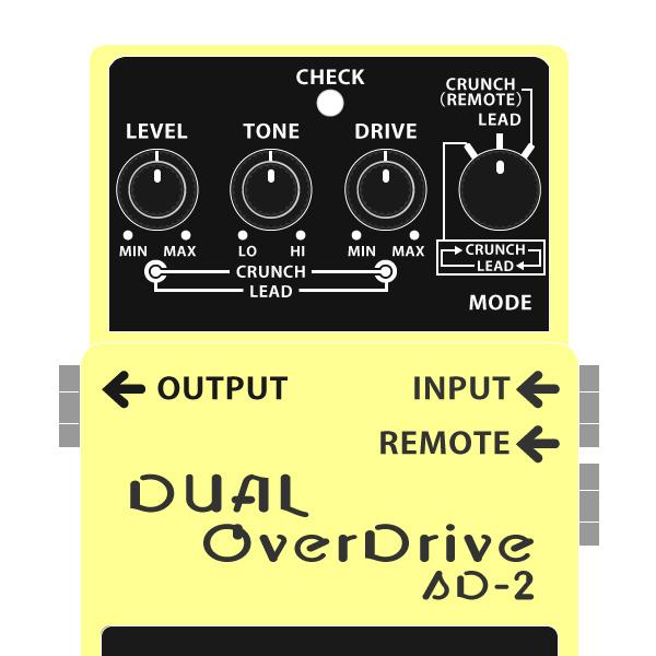 BOSS_SD-2_DUAL_OcerDrive_デュアルオーバードライブイラスト