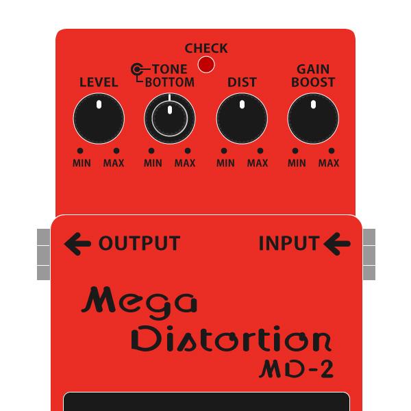 BOSS_MD-2_Mega_Distortion-メガディストーションイラスト