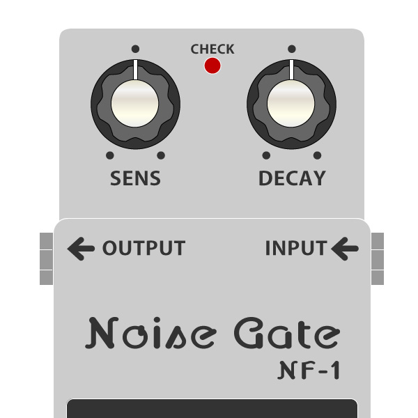 BOSS_NF-1_Noise_Gate-ノイズゲートイラスト