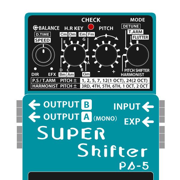 BOSS_PS-5_SUPER_Shifter_スーパーシフターイラスト