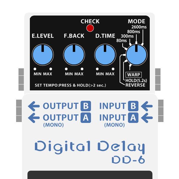 BOSS_DD-6_Digital_Delay_デジタルディレイイラスト