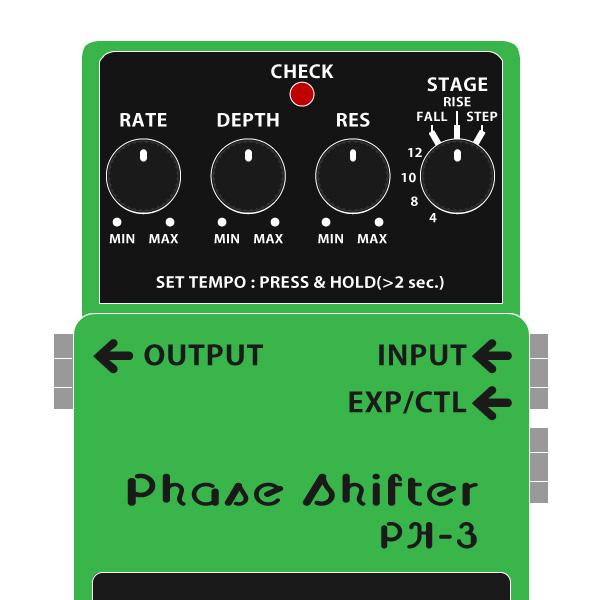 BOSS_PH-3_Phase_Shifter-フェイズシフターイラスト