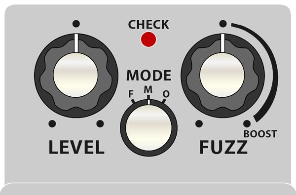 BOSS_FZ-5_モードツマミとBOOST領域