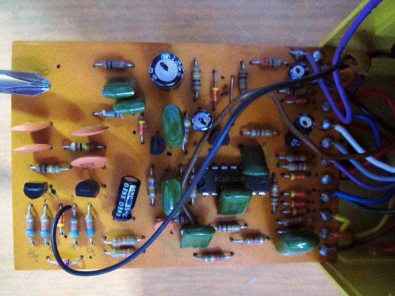 BOSS OD-1の基盤 パーツ面