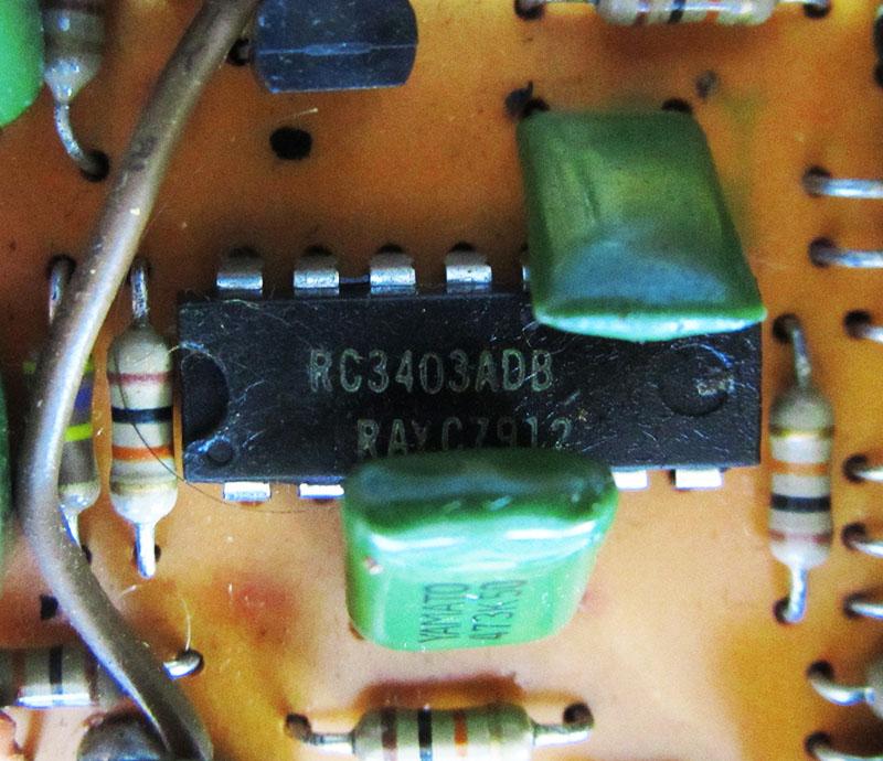 BOSS ビンテージ OD-1 クワッドオペアンプRC3403ADB