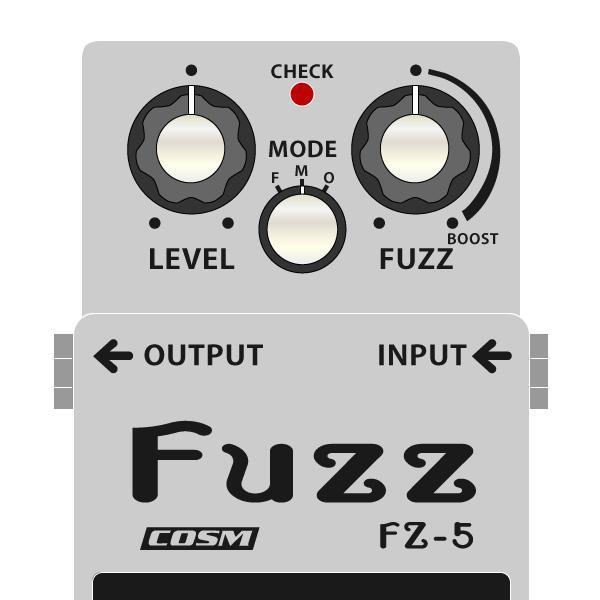 BOSS_FZ-5_Fuzz-ファズイラスト