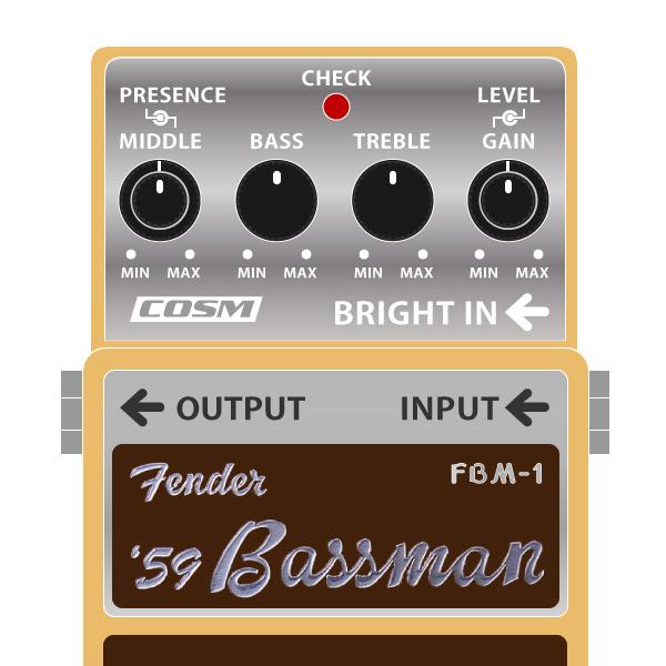 BOSS_FBM-1_Fender_59Bassman_フェンダーベースマンイラスト