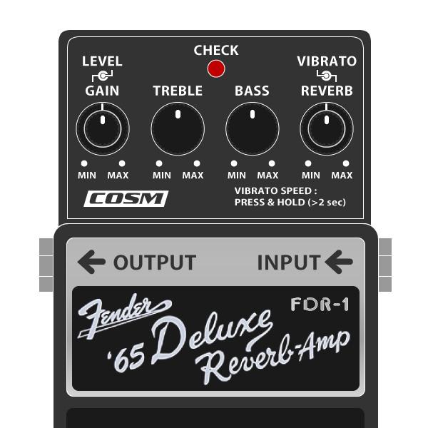 BOSS_FDR-1_Fender_65DeluxeReverb_フェンダーデラックスリバーブイラスト