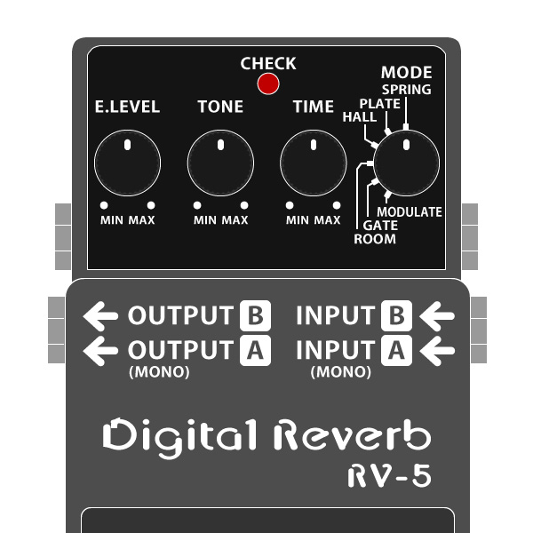 BOSS_RV-5_Digital_Reverb_デジタルリバーブイラスト