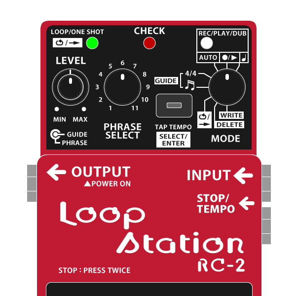 BOSS_RC-2_Loop_Station_ループステーションイラスト