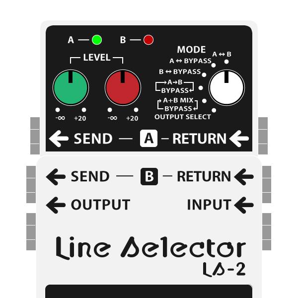 BOSS_LS-2_Line_Selector_ラインセレクターイラスト