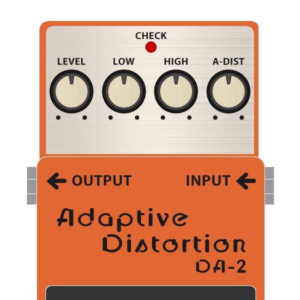 BOSS_DA-2_Adaptive_Distortion_アダプティブティストーションイラスト