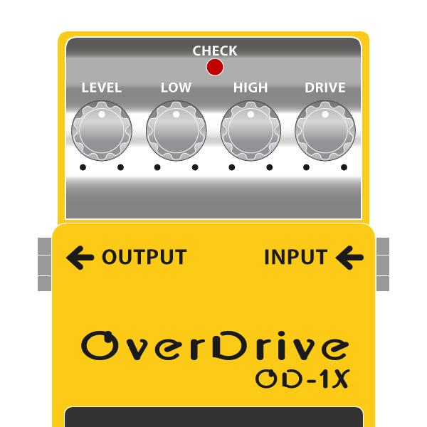 デジタル歪みペダルの新時代を開いたXシリーズオーバードライブOD-1X