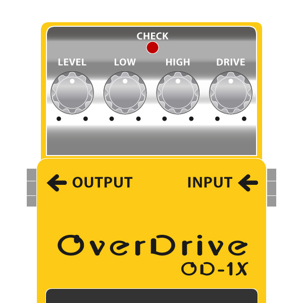 BOSS_OD-1X_OverDrive_オーバードライブイラスト