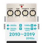 BOSSコンパクトエフェクター 全機種発売日・発売順まとめ 2010年代
