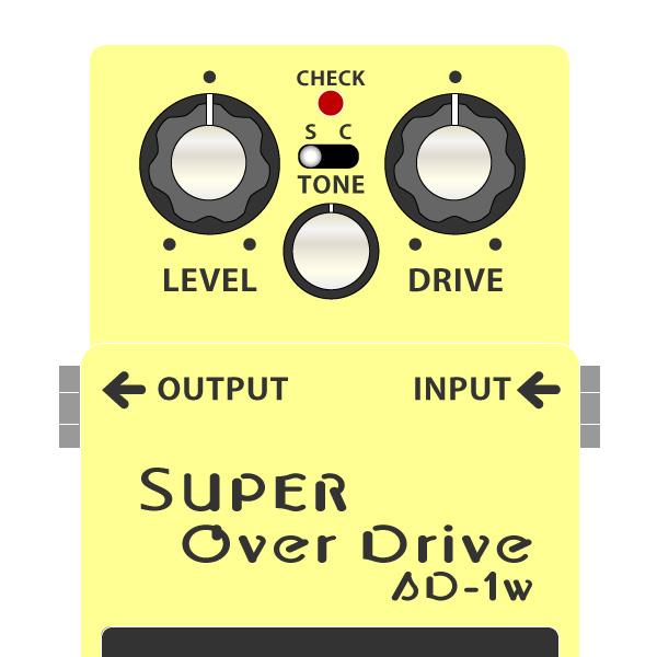 BOSS_SD-1W_SUPER_OverDrive_技クラフト_スーパーオーバードライブ_イラスト
