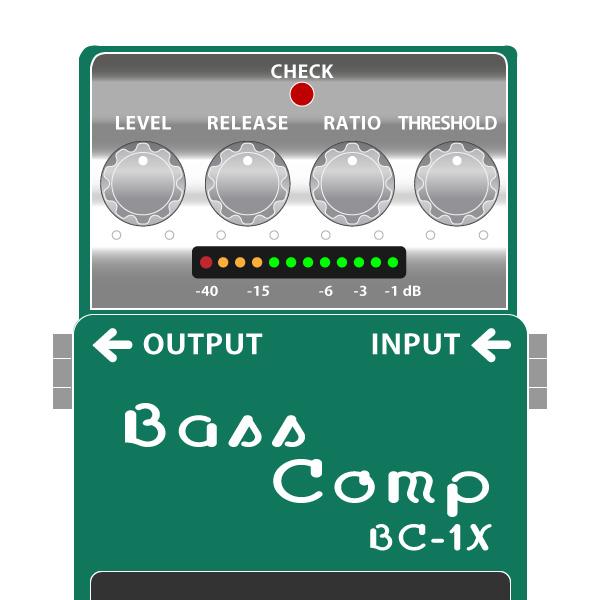 BOSS_BC-1X_BassrComp_ベースコンプレッサーイラスト