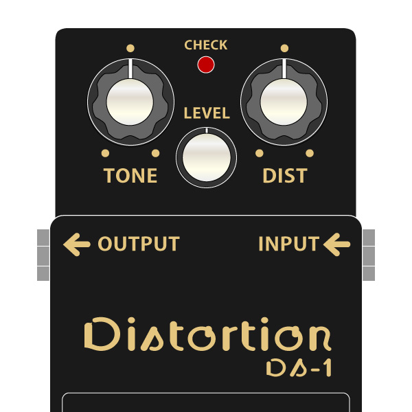 BOSS_DS-1_4A_Distortion_ディストーション40周年記念モデルイラスト