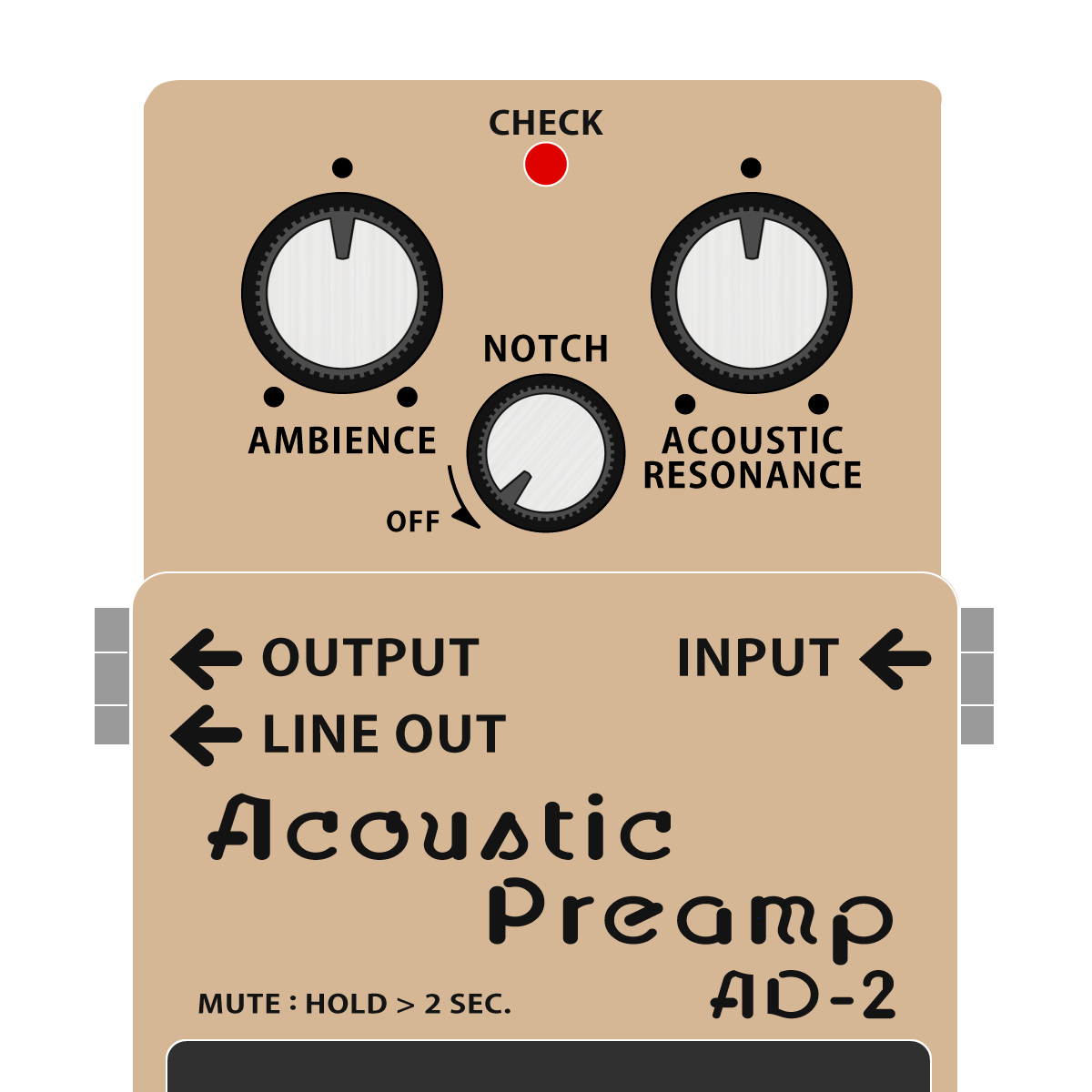 BOSS AD-2 Acoustic Preamp アコースティックプリアンプイラスト