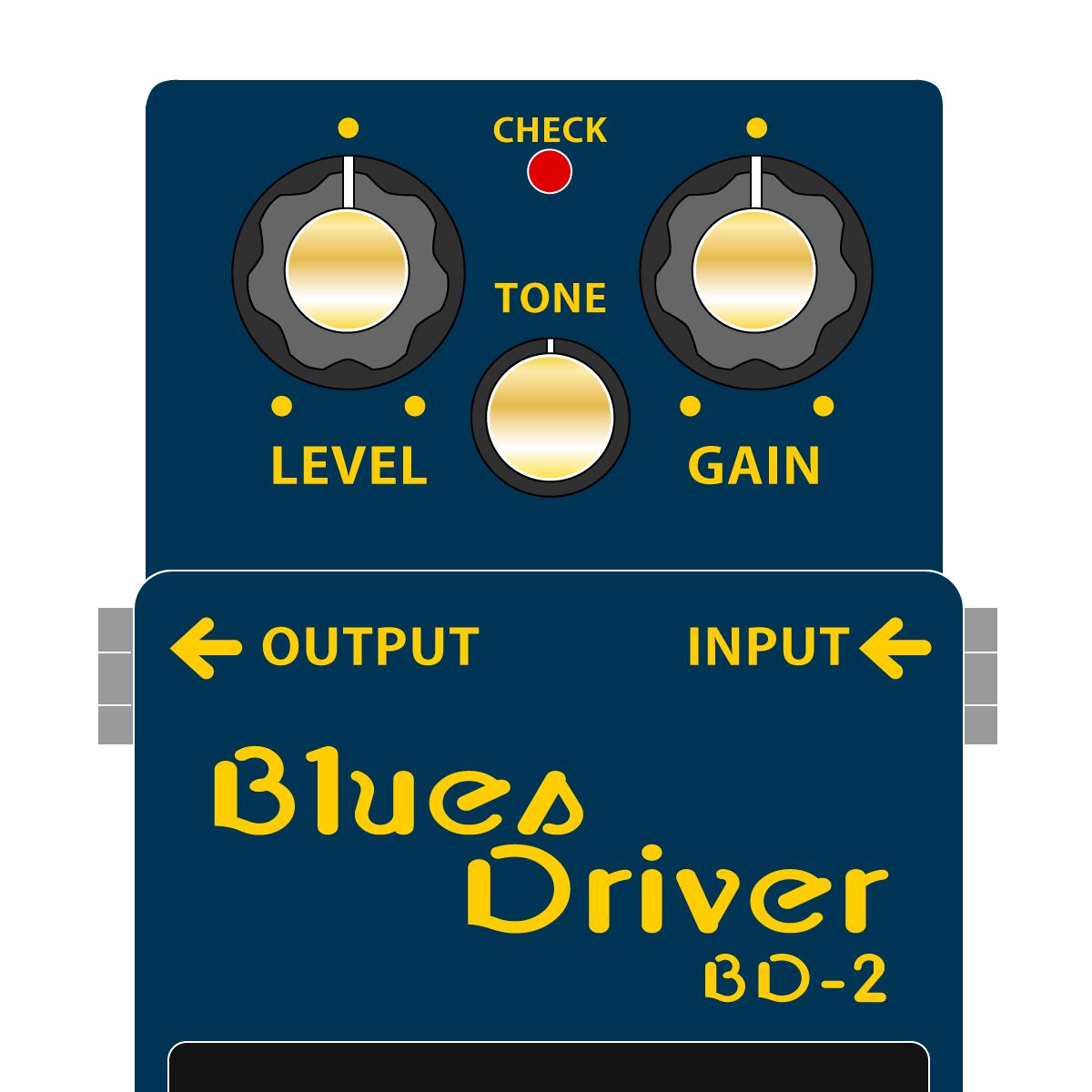 BOSS BD-2 BluesDiriver ブルースドライバーイラスト