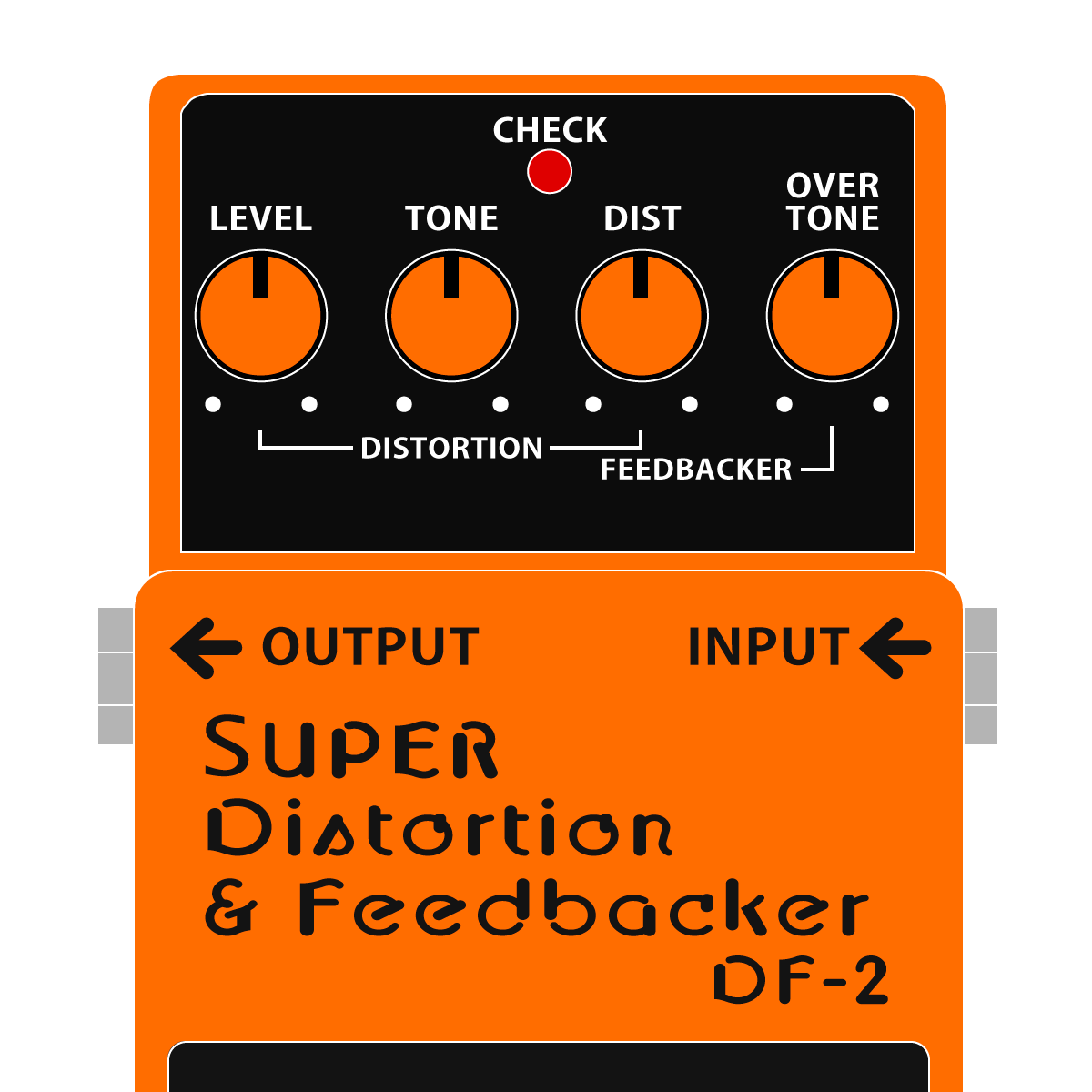 BOSS DF-2 SUPER Distortionr Feedbacker スーパーディストーション_フィードバッカーイラスト