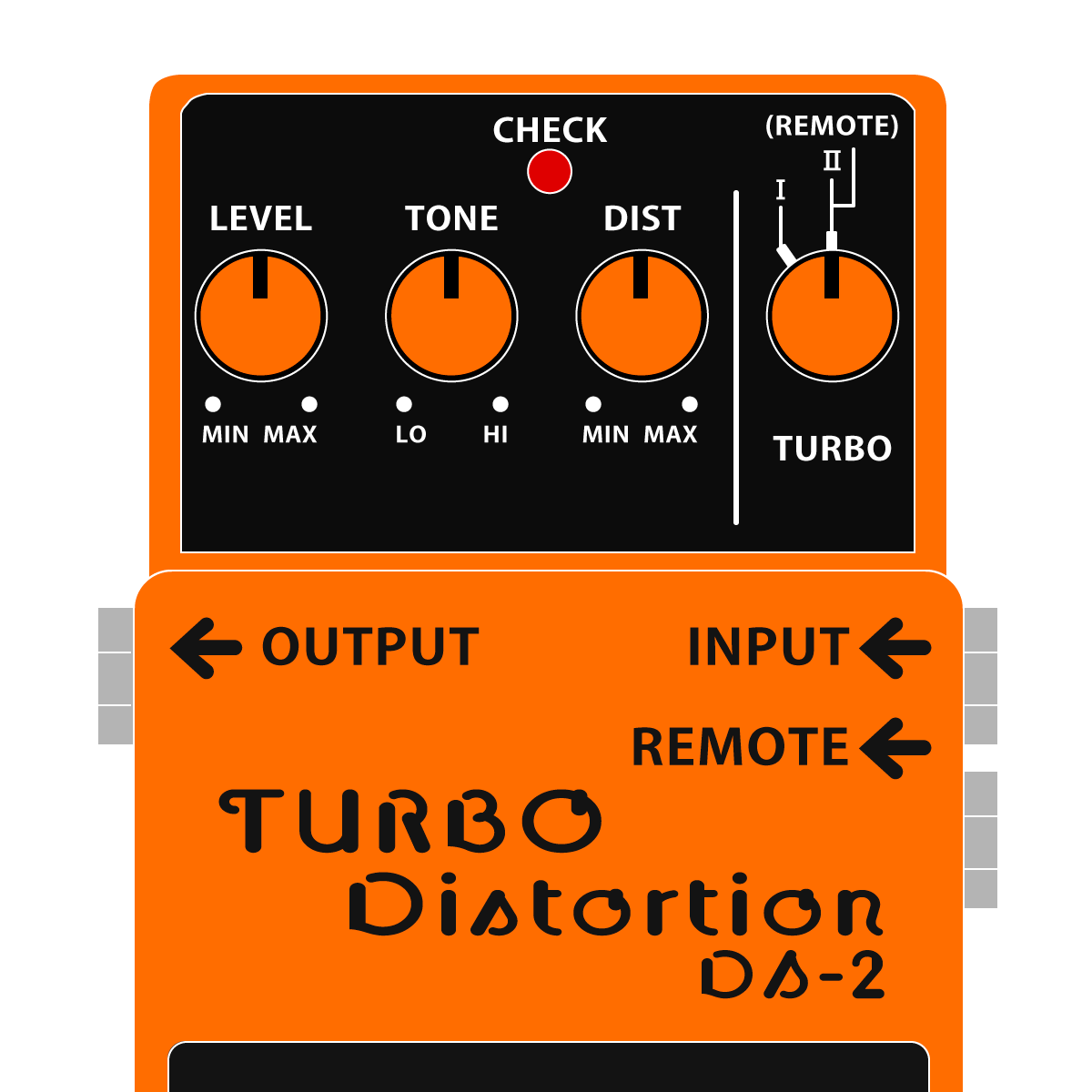 BOSS DS-2 TURBO Distortion ターボディストーションイラスト