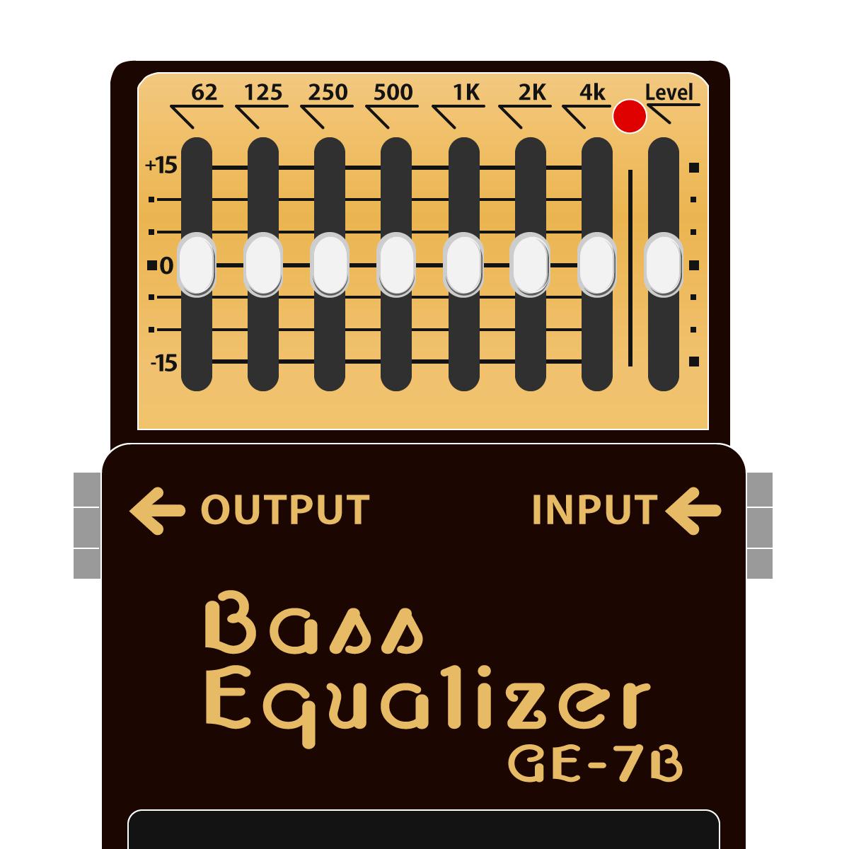 GE-7B Bass Equalizer(ベース用グラフィックイコライザー)