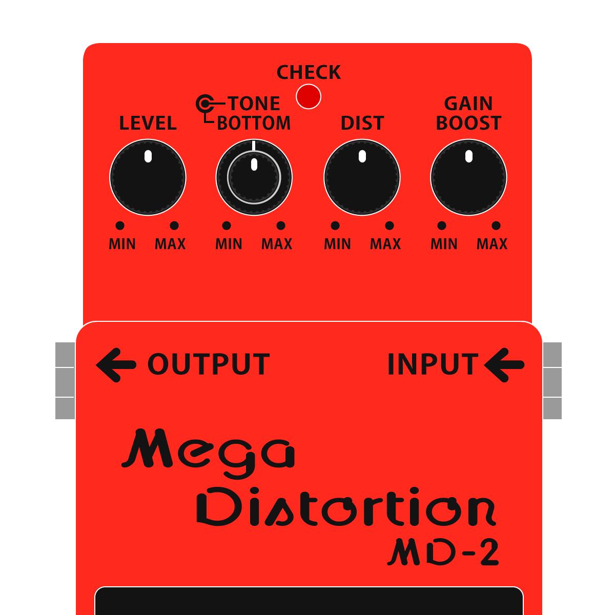 BOSS MD-2 Mega Distortion メガディストーションイラスト