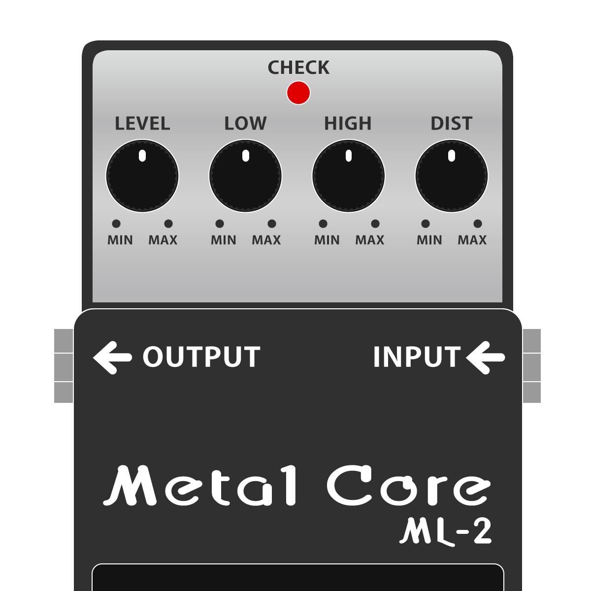 BOSS ML-2 Metal Core メタルコアイラスト
