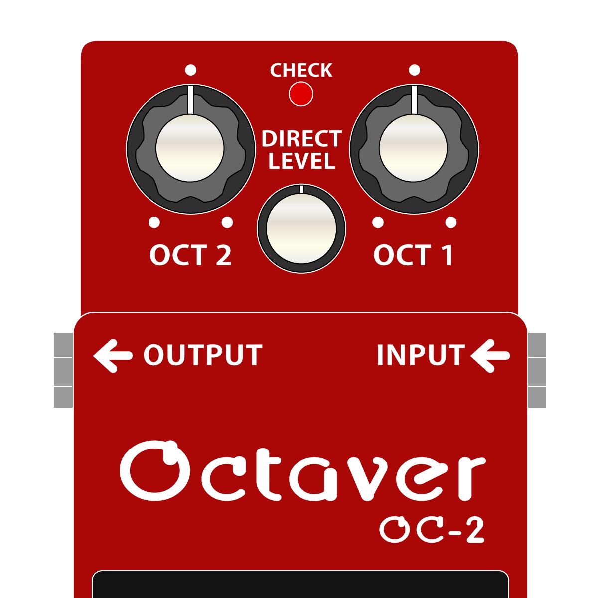 BOSS OC-2 Octaver オクターバーイラスト