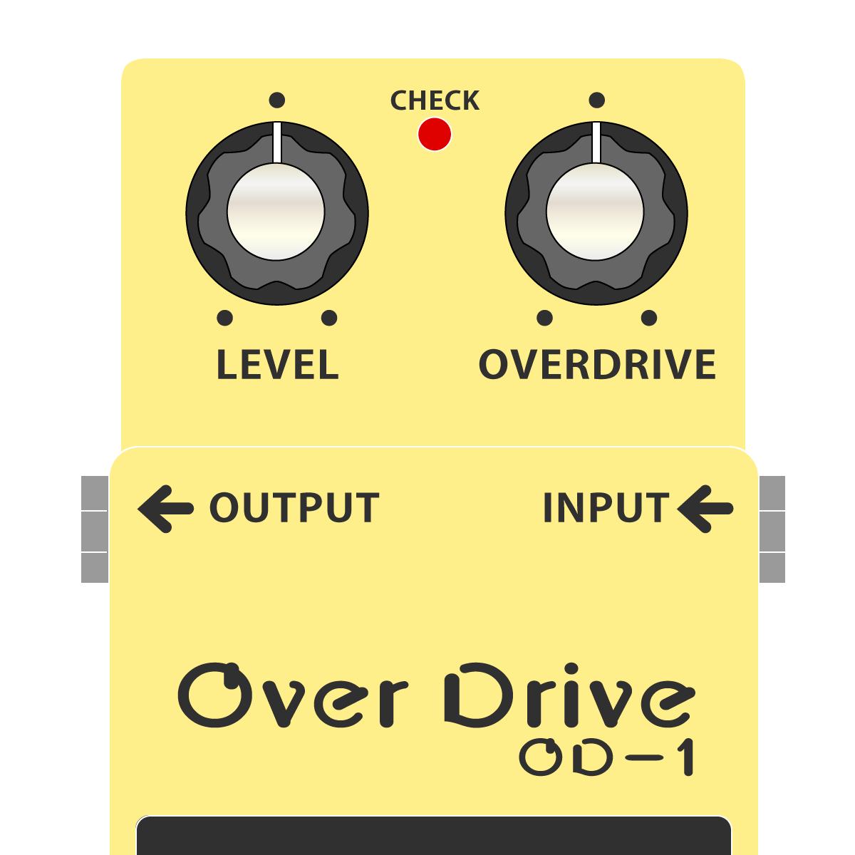 BOSS OD-1 OverDrive オーバードライブイラスト